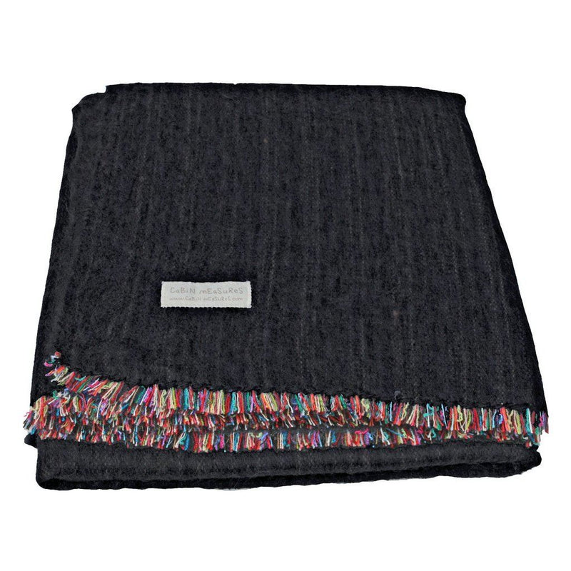 100% Alpaca Full Blanket In Carbon. Home - Pillows & Throws