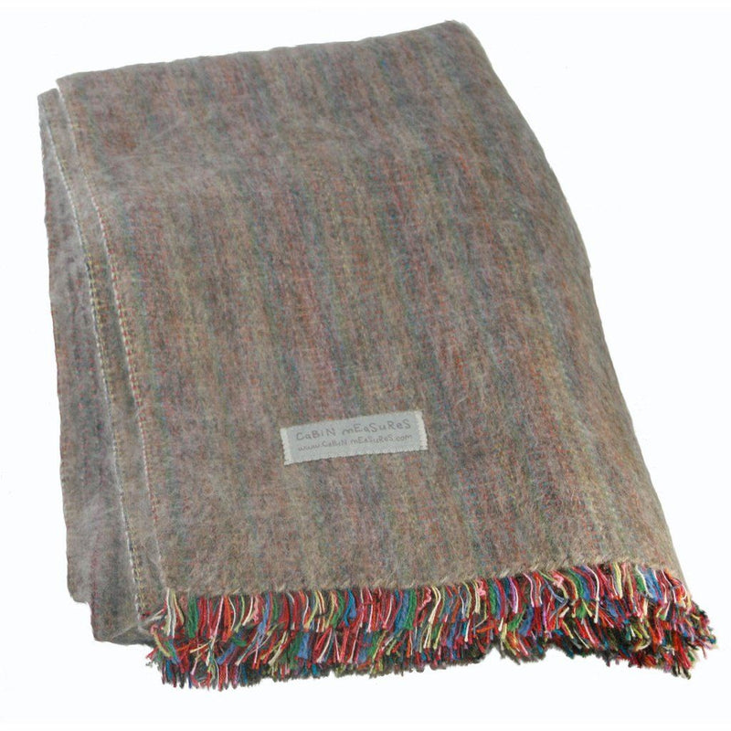 100% Alpaca Full Blanket In Mink. Home - Pillows & Throws