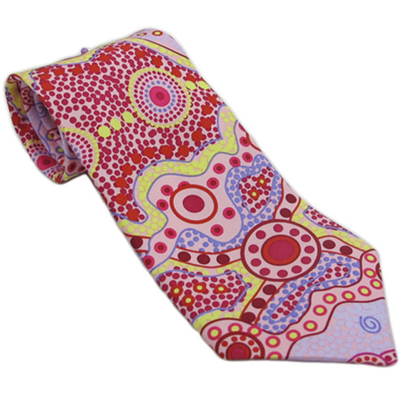 Aboriginal Art Silk 'Yalke' Tie