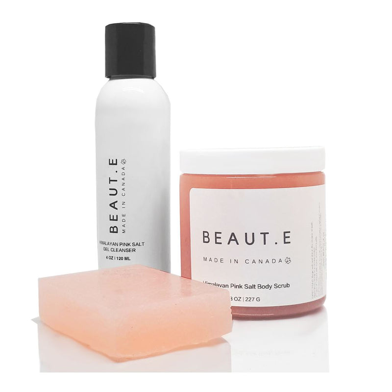 Bathroom-Health & Beauty-Himalayan Pink Salt Cleansing Bundle. Beauty - Mens - Skincare