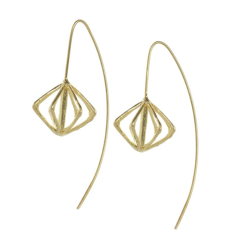 Belle Diamond Shaped Earrings Gold Women - Jewelry - Earrings