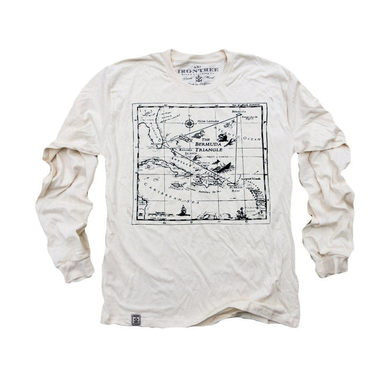 Bermuda Triangle: Organic Fine Jersey Long Sleeve T-Shirt In Unbleached Natural Men - Apparel - Shirts - T-Shirts
