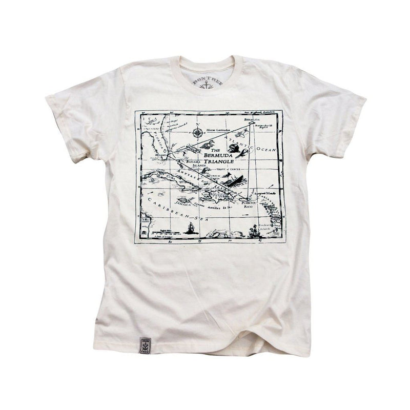 Bermuda Triangle: Organic Fine Jersey Short Sleeve T-Shirt In Unbleached Natural Men - Apparel - Shirts - T-Shirts