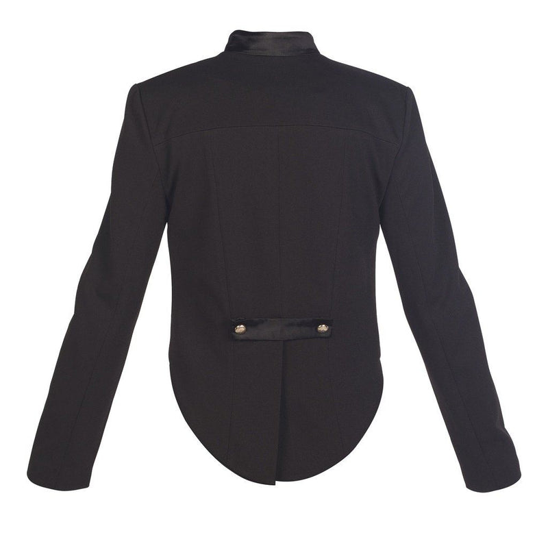 Black 100% Wool Military Style Tailcoat Jacket Women - Apparel - Outerwear - Jackets