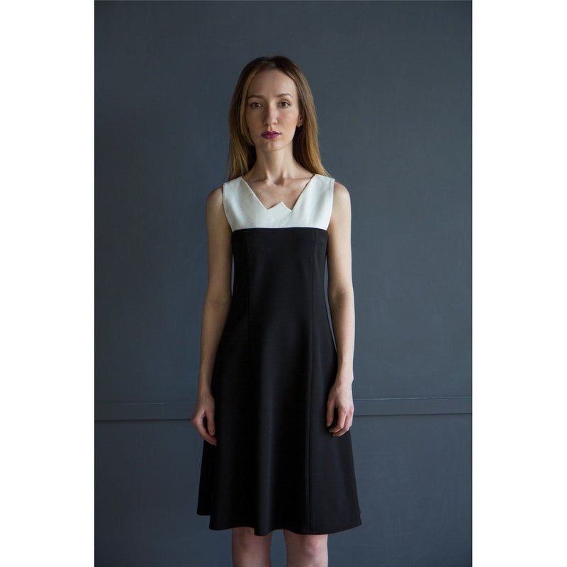 Black And White Sleeveless Dress Women - Apparel - Dresses - Day To Night