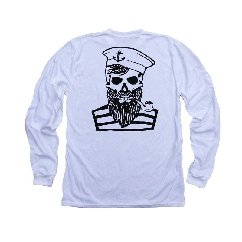 Blackbeards Ghost Ll: Organic Fine Jersey Long Sleeve T-Shirt In White Men - Apparel - Shirts - T-Shirts
