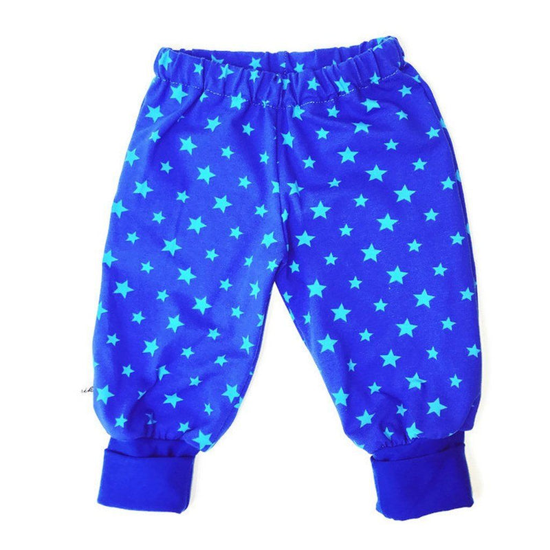 Blue Baby Pants With Stars - Size Newborn-24 Months Kids - Boys - Apparel