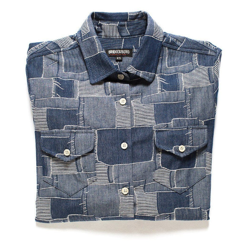 Boro Denim Shirt Women - Apparel - - Shirts