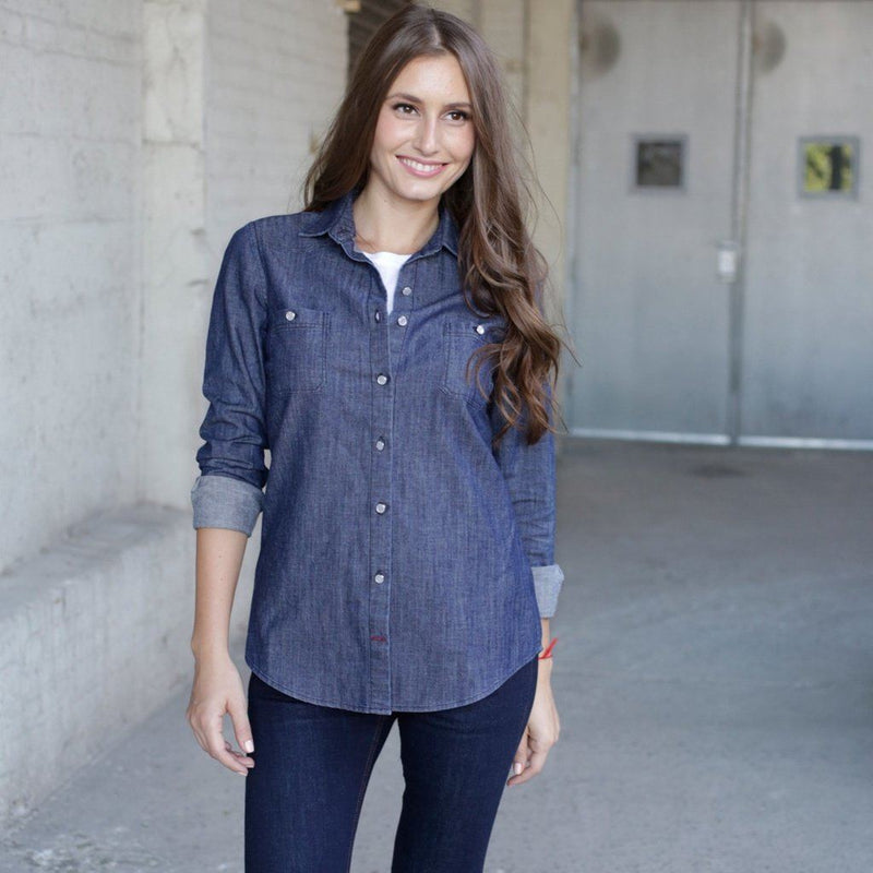 Bowery Denim Shirt - Womens Women - Apparel - - Shirts