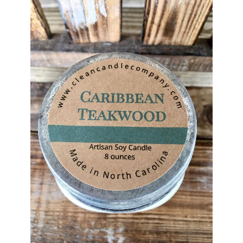 Candles-Caribbean Teakwood - 16 Oz. Made In The Usa. Home - Candles