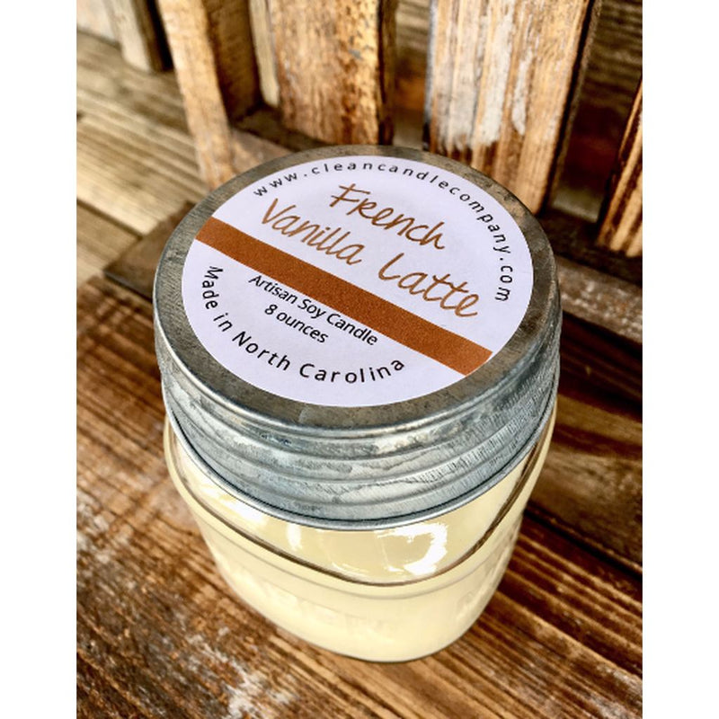 Candles-French Vanilla Latte - 16 Oz. Made In The Usa. Home - Candles