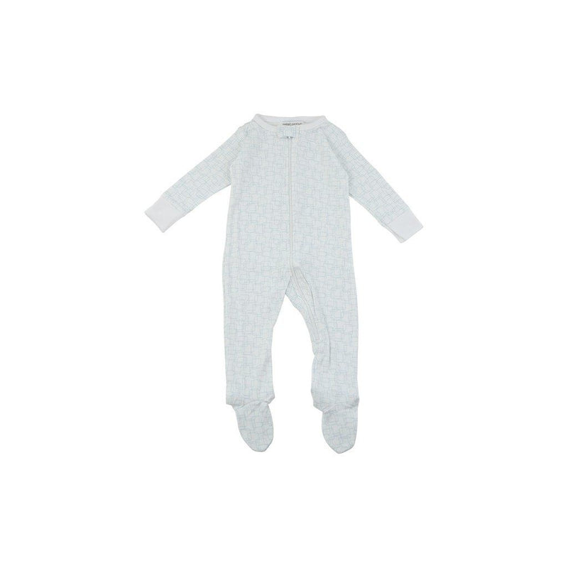 Childrens Organic Cotton Footed Pyjamas In Blue Kids - Boys - Apparel