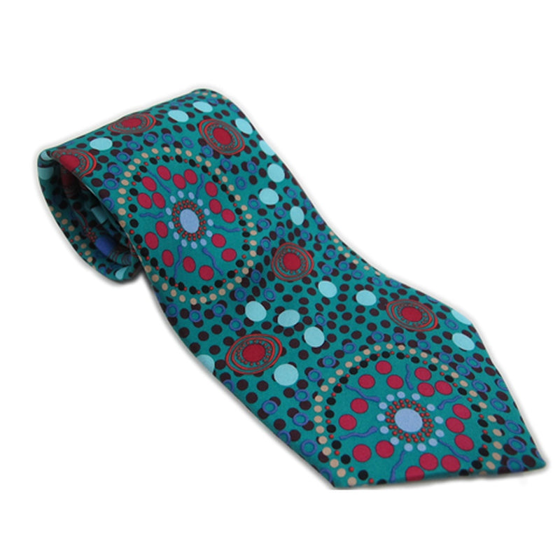 Aboriginal Art Silk 'Dreamtime' Tie.
