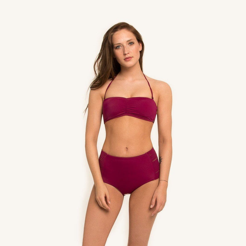 Dylan Bandeau Top Berry Women - Apparel - Swimwear - Bikinis Separates