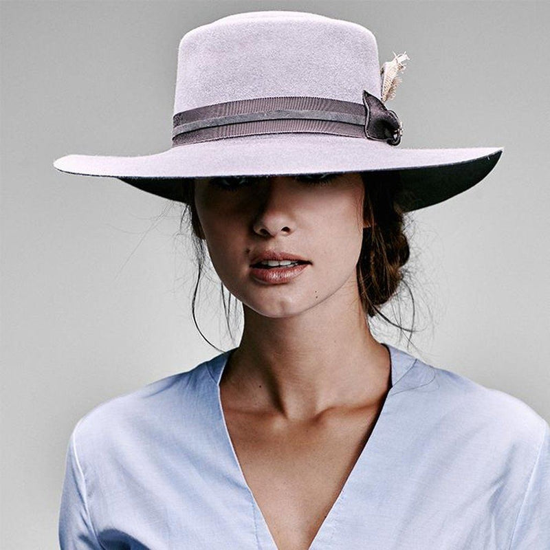 El Rosal Wide Brim Pork Pie Hat - Grey Women - Accessories - Hats