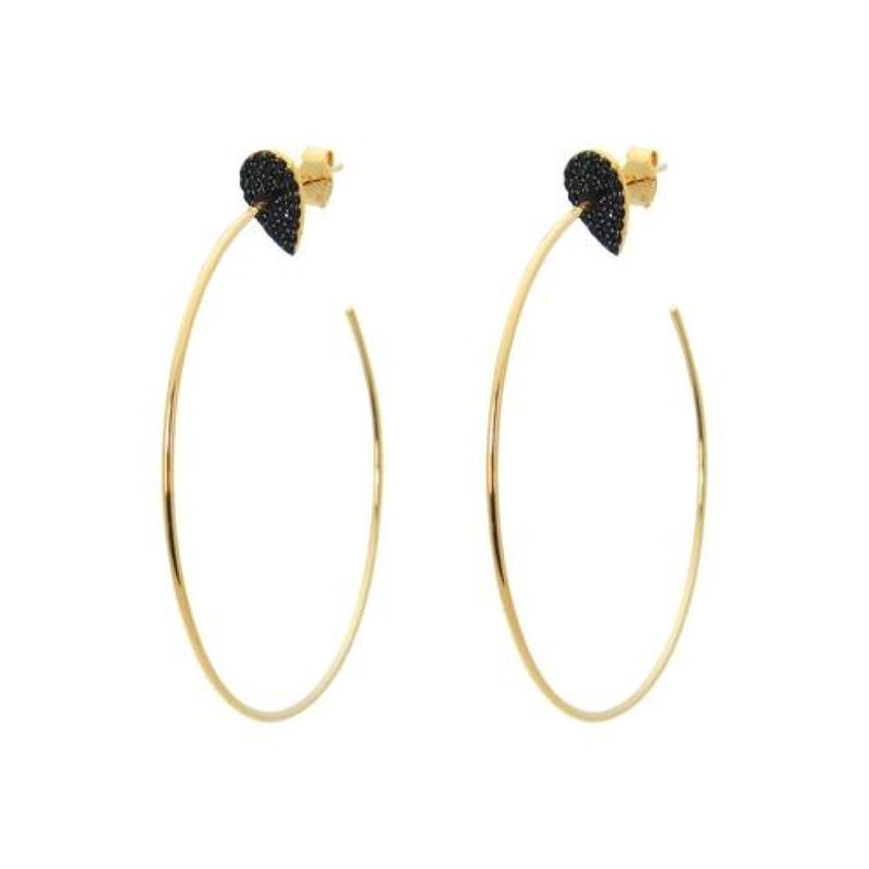 Fashion-18K Gold Plated Silver Night Almond Hoop Earrings