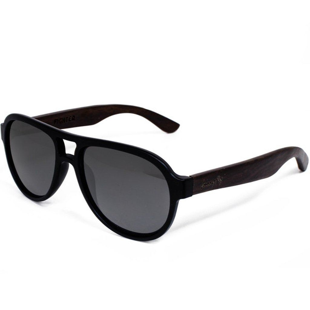 8a50ea28b576 Fighter  Zebrawood  Sunglasses – Queen of Homewares