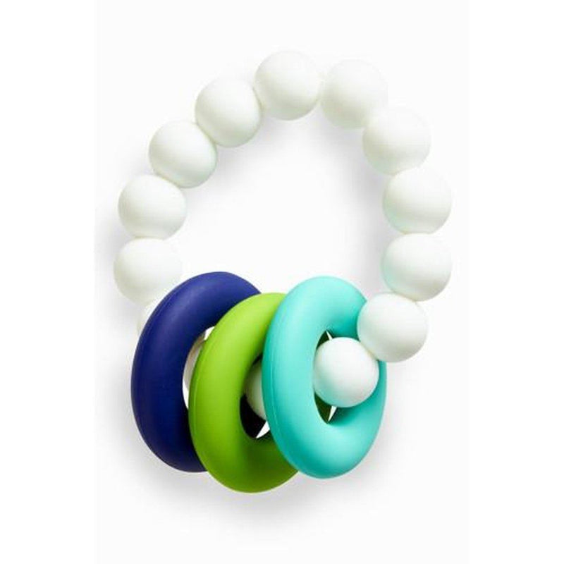 Food Grade Silicone Teething Ring White & Blue Kids - Girls - Accessories