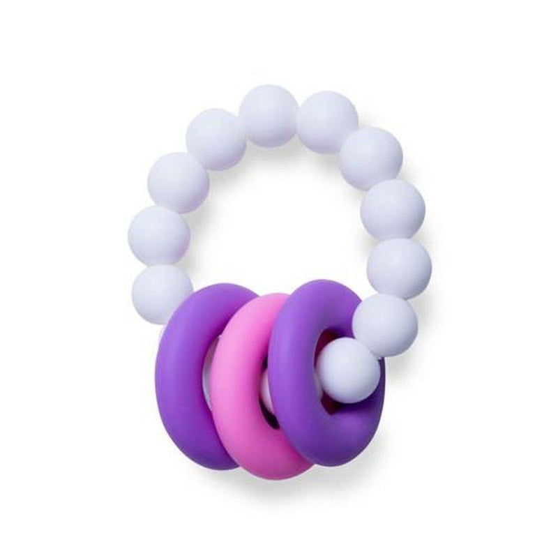 Food Grade Silicone Teething Ring White & Purple Kids - Girls - Accessories