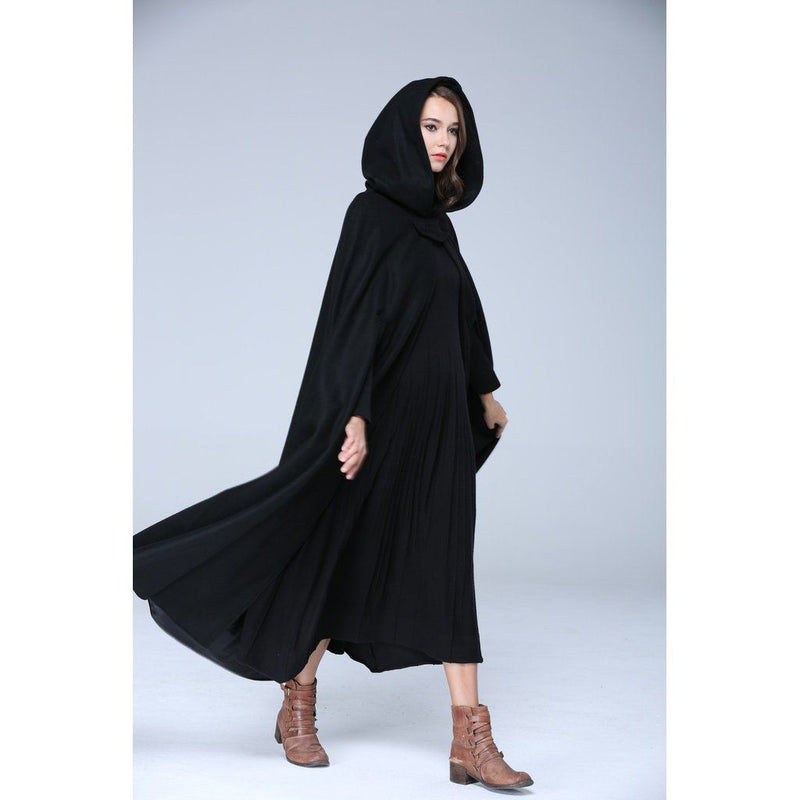 Fully Lined 100% Cashmere Luxury Wool Hooded Winterfell Cloak Women - Apparel - Outerwear - Coats