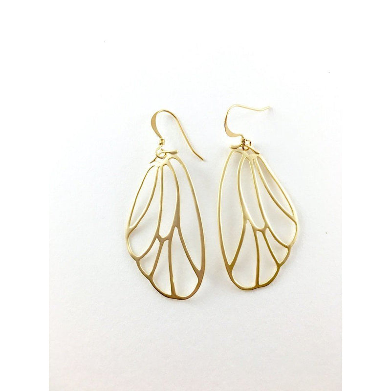 Gold Plated Brass Butterfly Earrings Women - Jewelry -