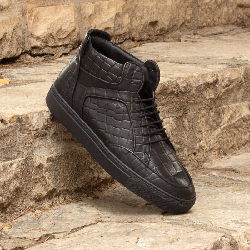 Gustavo Hightop Sneakers In Highest Quality Calf-Skin-Nano Technology. Men - Shoes -