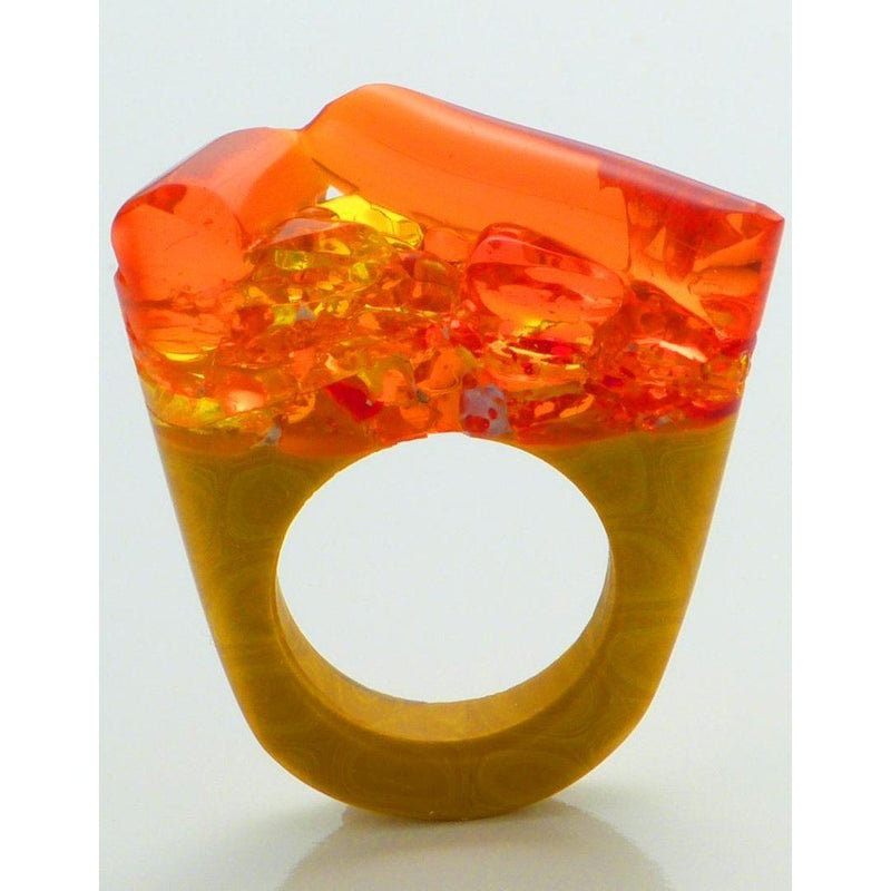 Hand-Crafted Murano Glass Ring - Hatred Women - Jewelry - Rings