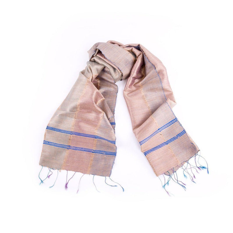 Hand-Spun Silk Scarf Cherry Blossom Women - Accessories - Scarves