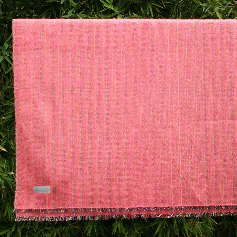 100% Alpaca Travel Blanket In Pink. Home - Pillows & Throws