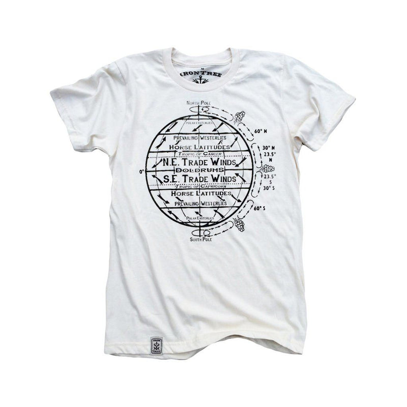 Horse Latitudes: Organic Fine Jersey Short Sleeve T-Shirt In White Men - Apparel - Shirts - T-Shirts