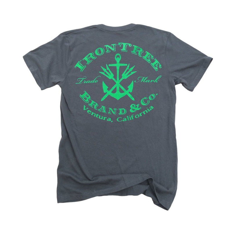 Irontree Stamp: Organic Fine Jersey Short Sleeve T-Shirt In Slate Men - Apparel - Shirts - T-Shirts