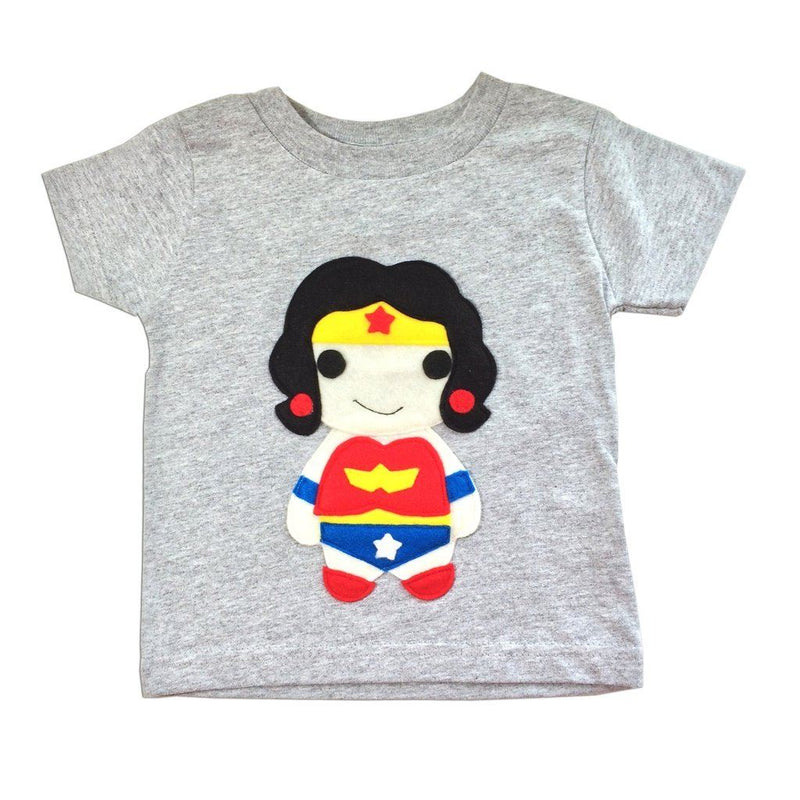 Kids Superhero Shirt - Wonder Girl - Boys - Apparel