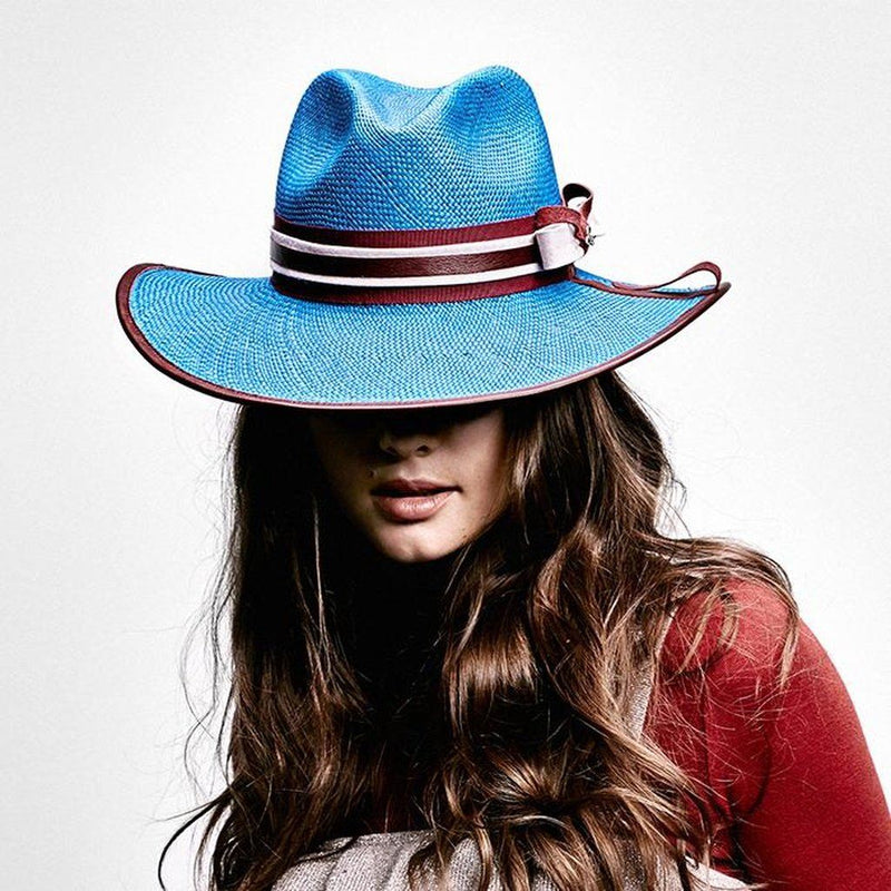 La Finca Panama Hat - Blue Women - Accessories - Hats