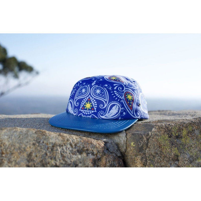 Manila Thrilla Paisley 5 Panel Hat-Limited Edition. Blue Men - Accessories - Hats
