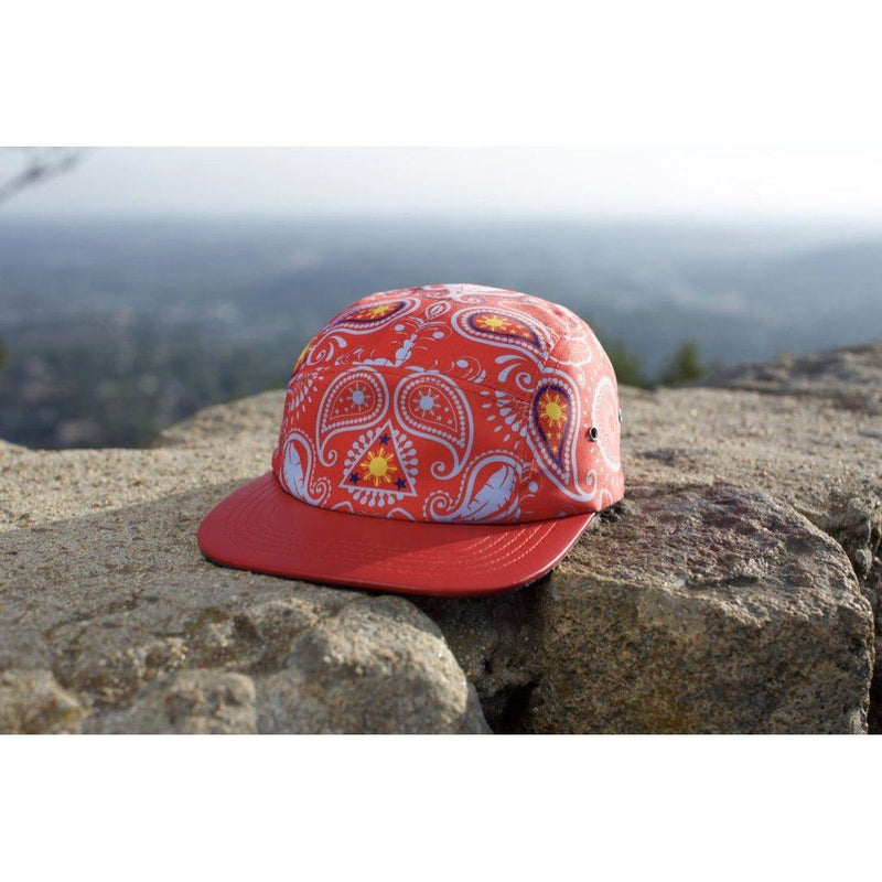 Manila Thrilla Paisley 5 Panel Hat-Limited Edition. Red Men - Accessories - Hats