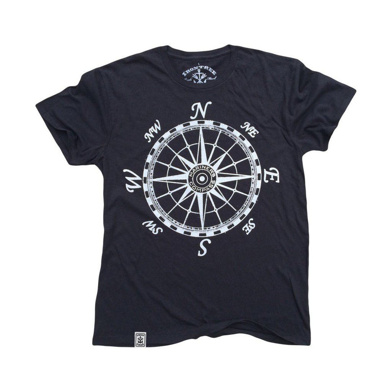 Mariners Compass: Organic Fine Jersey Short Sleeve T-Shirt In Black Men - Apparel - Shirts - T-Shirts