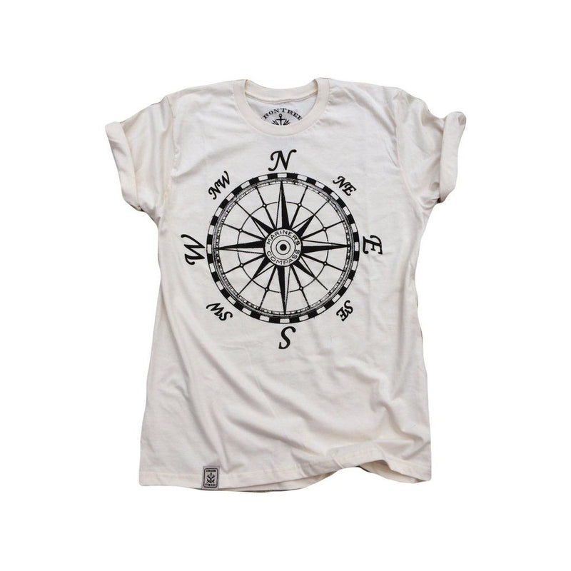 Mariners Compass: Organic Fine Jersey Short Sleeve T-Shirt In Unbleached Natural Men - Apparel - Shirts - T-Shirts