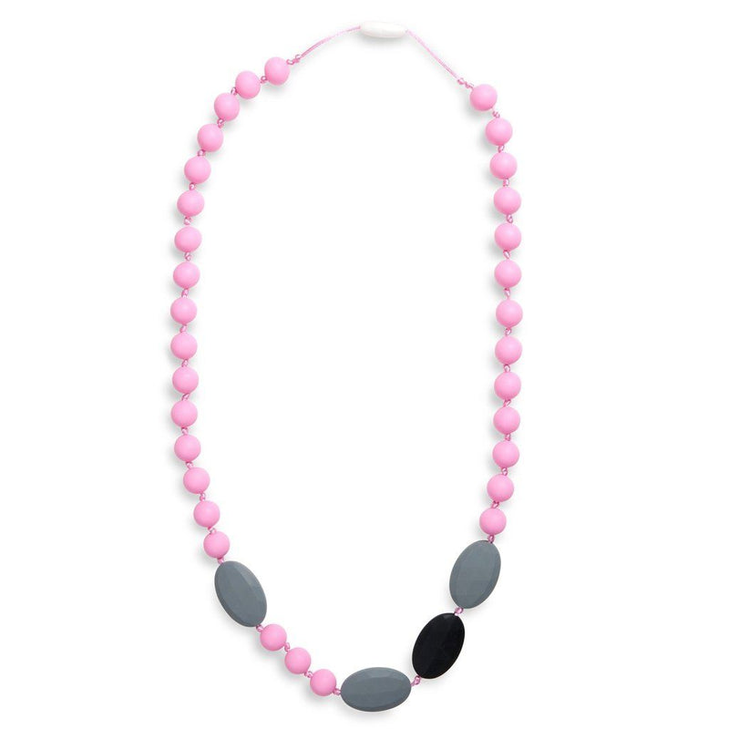 Maxi Teething Necklace Amelies Oval Pink Women - Jewelry - Necklaces