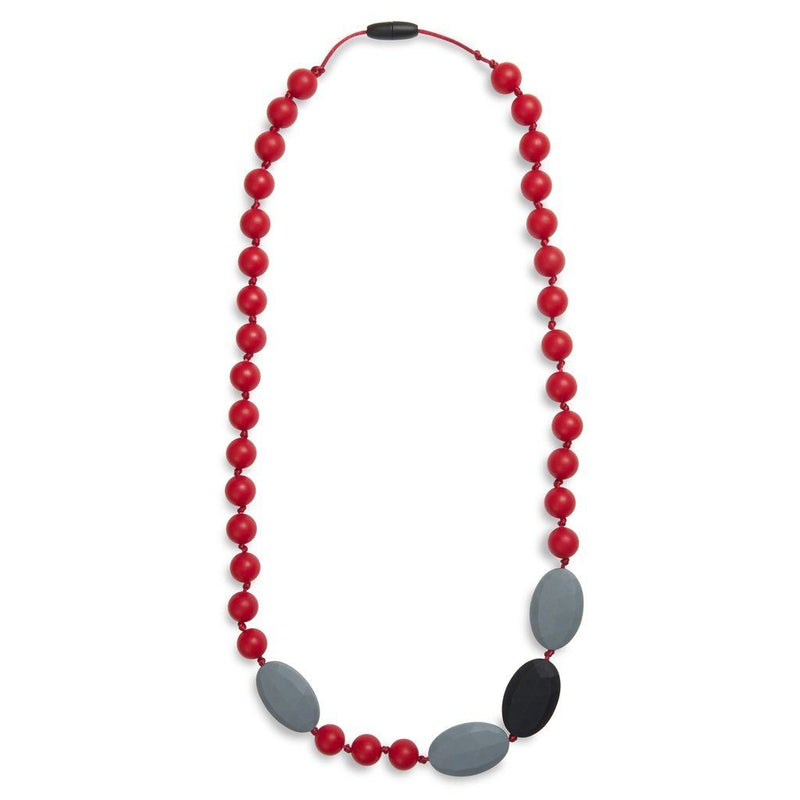 Maxi Teething Necklace Amelies Oval Red Women - Jewelry - Necklaces