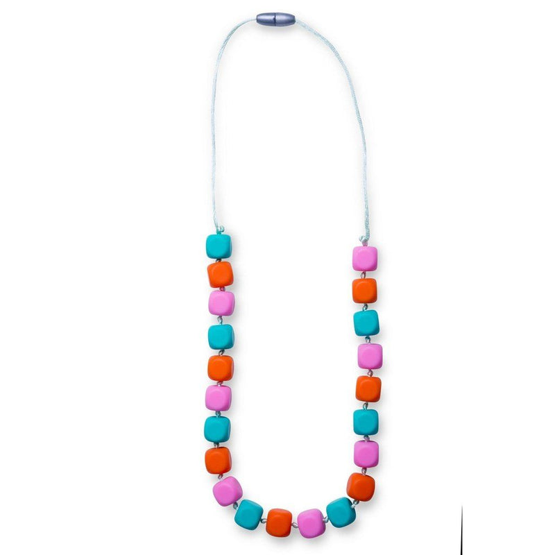 Maxi Teething Necklace Sophies Squares Peach Melba Women - Jewelry - Necklaces