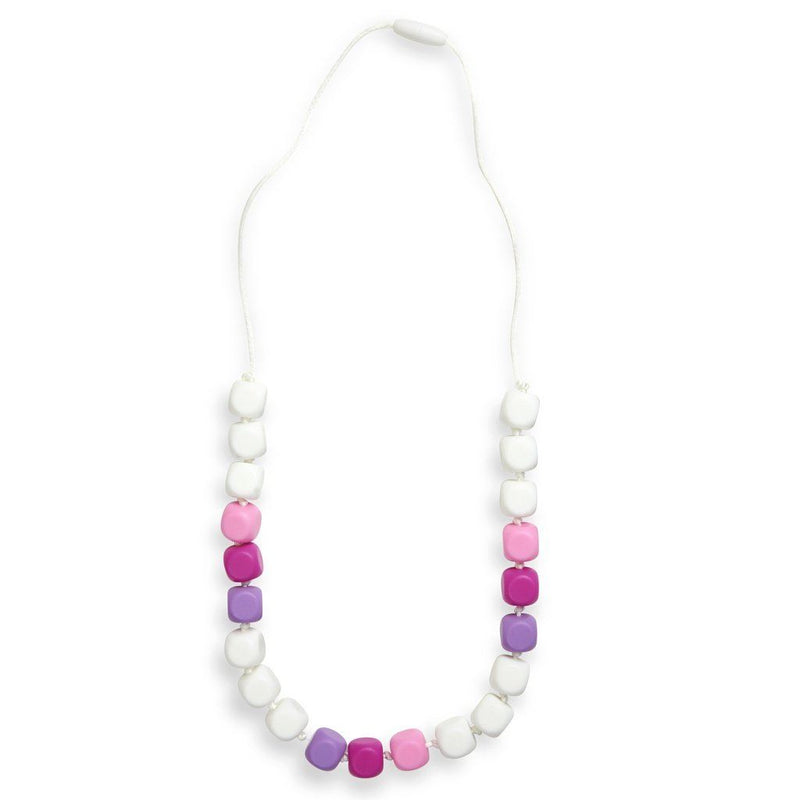 Maxi Teething Necklace Sophies Squares Pink / White Women - Jewelry - Necklaces