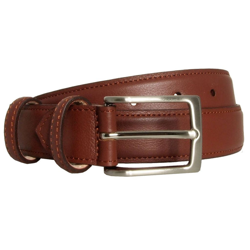 Mens 30 Mm Sartorial Fine Grain Leather Belt. Superior Construction. Hand-Made In Milan. Men - Accessories - Belts