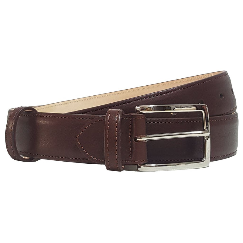 Mens 34 Mm Antiquated Cowhide Belt. Superior Construction. Hand-Made In Italy. L 100/115 Men - Accessories - Belts