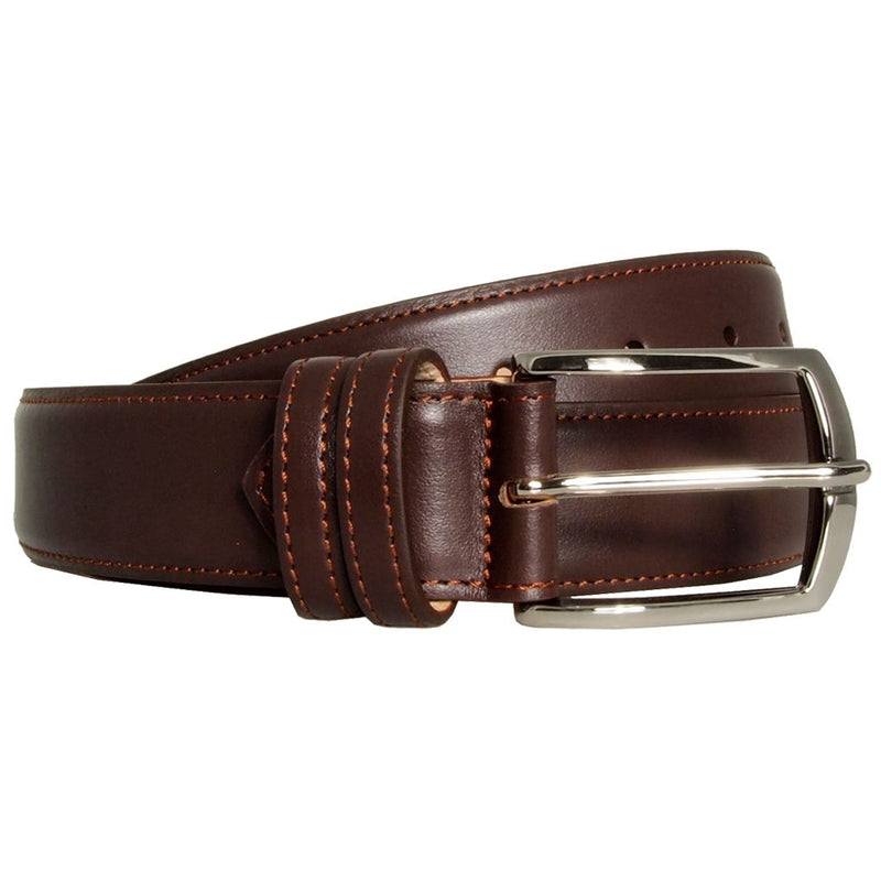 Mens 35 Mm Sartorial Buffed Leather Belt. Superior Construction. Made In Milan. Men - Accessories - Belts