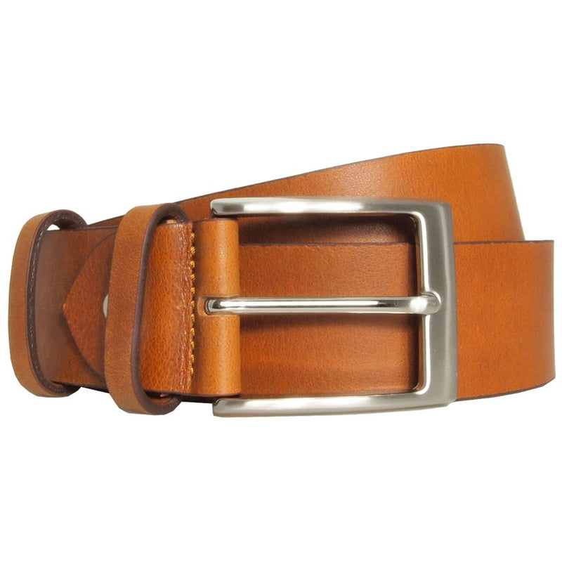 Mens 40 Mm Briddle Leather Belt. Superior Construction. Made In Milan. Men - Accessories - Belts