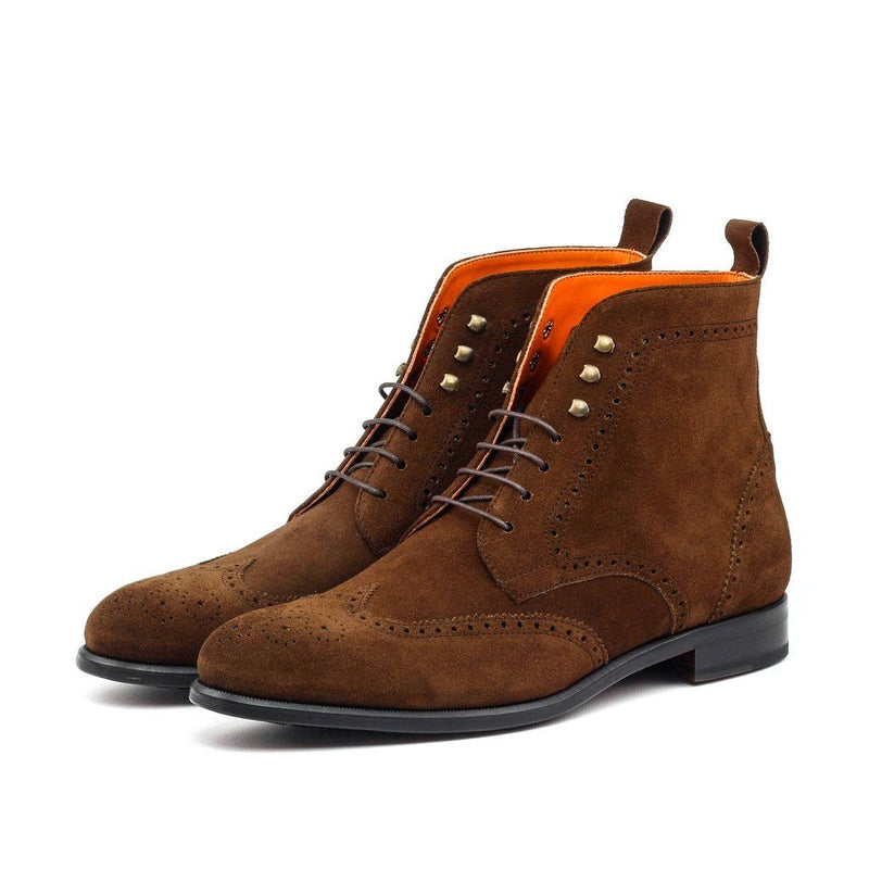 Mens Hand-Crafted Brown Bomber Boot. Men - Shoes - Boots