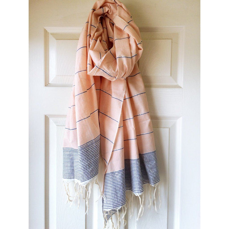 Metallic Stripe Scarves Women - Accessories -