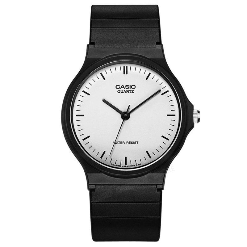 Old School Black And White Faced Casio Wristwatch! Mq-24-7E