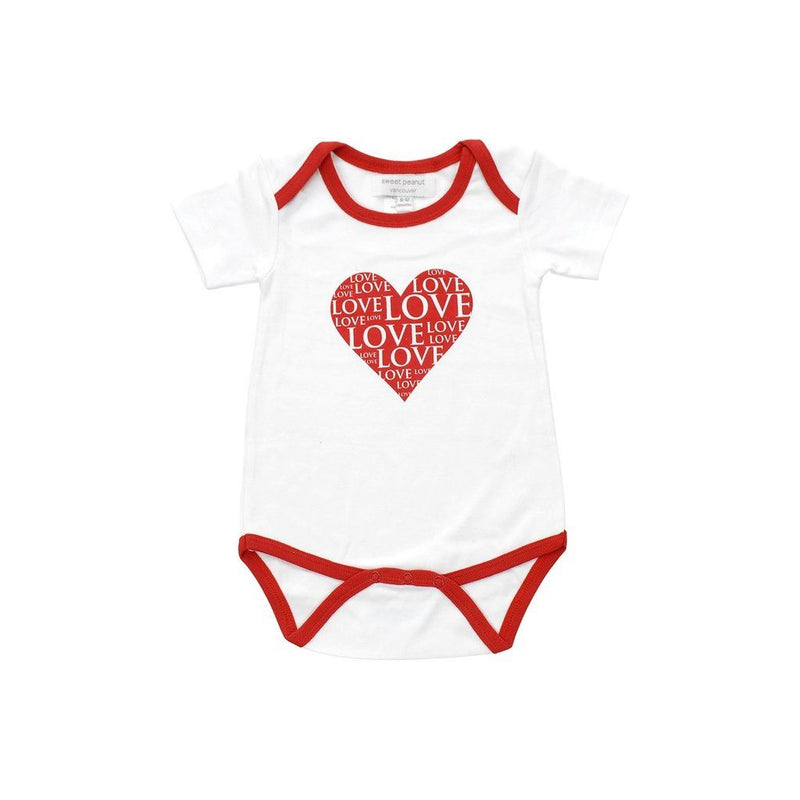 Organic Cotton Onesie In All My Love Pattern. Kids - Girls - Apparel