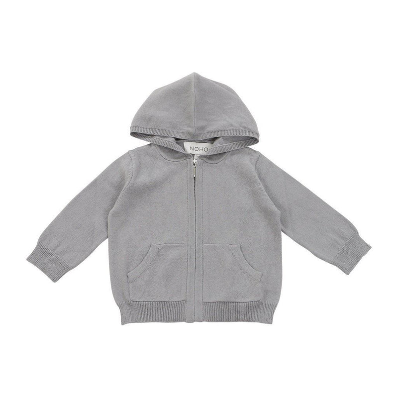 Organic Cotton/cashmere Grey Hoodie Kids - Boys - Apparel